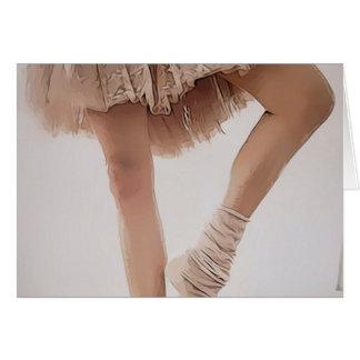 ballerina on tiptoe, with tule card