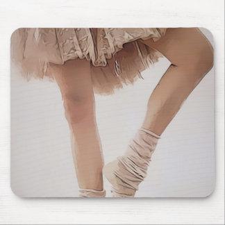 ballerina on tiptoe, with tule mouse pad