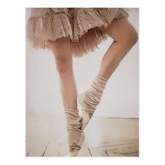 ballerina on tiptoe, with tule postcard
