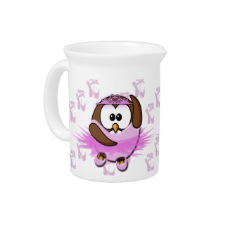 Ballerina owl - glitter drink pitcher
