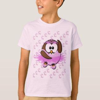 Ballerina owl - glitter T-Shirt