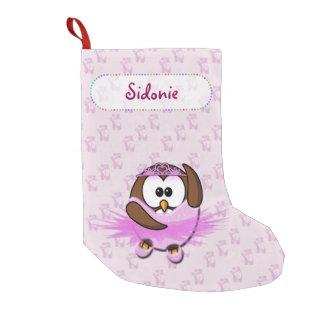 ballerina owl small christmas stocking