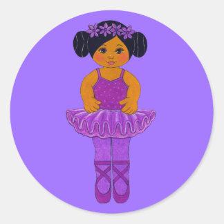 Ballerina Party Stickers