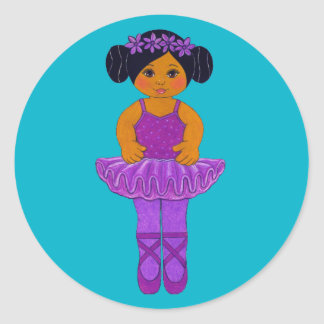 Ballerina Party Stickers ~ African American