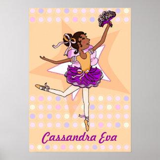 "Ballerina peach - dark-hair girl ""your name""poster poster"