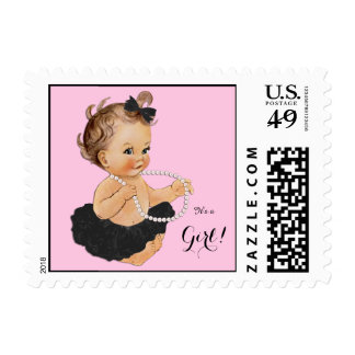 Ballerina Pearl Baby Shower Postage