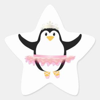Ballerina Penguin Sticker