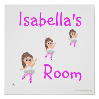Ballerina Personalised Print