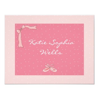 Ballerina Personalized Thank You/Notecard Personalized Invites