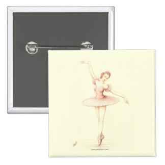 Ballerina Pinback Button