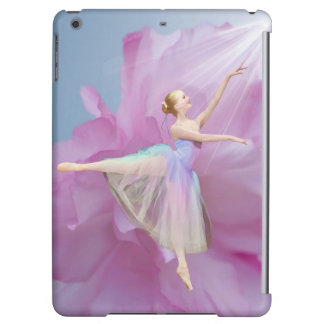 Ballerina Pink and Blue with Peony Flower Case For iPad Air