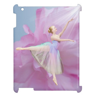 Ballerina Pink and Blue with Peony Flower Case For The iPad 2 3 4