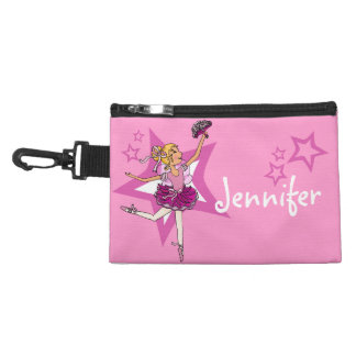 Ballerina pink girl blonde mini bagette accessory bag