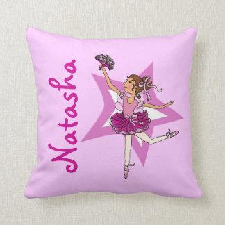 Ballerina pink - girls custom name pillow