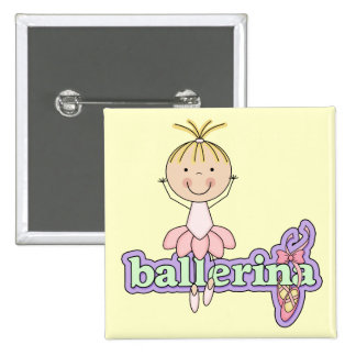 Ballerina - Pink Tshirts and Gifts Buttons
