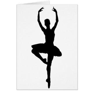 BALLERINA PIROUETTE (ballet dance silhouette) ~~ Card
