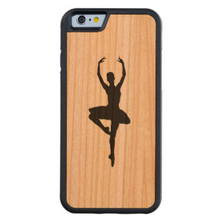 BALLERINA PIROUETTE (ballet dance silhouette) ~~ Carved® Cherry iPhone 6 Bumper Case