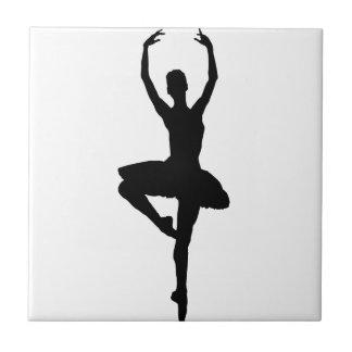 BALLERINA PIROUETTE (ballet dance silhouette) ~~ Ceramic Tile