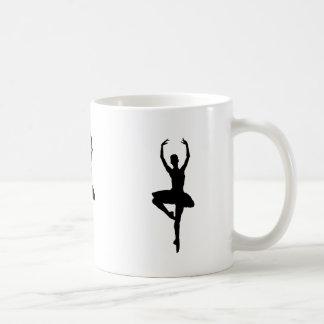 BALLERINA PIROUETTE (ballet dance silhouette) ~~ Coffee Mug