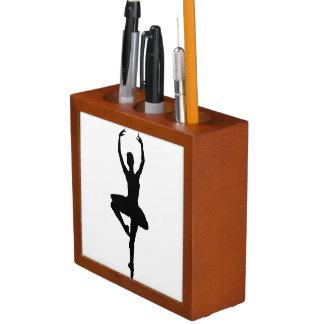 BALLERINA PIROUETTE (ballet dance silhouette) ~~ Pencil Holder