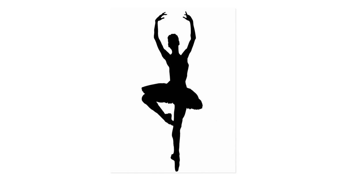 BALLERINA PIROUETTE (ballet dance silhouette) ~~ Postcard ...