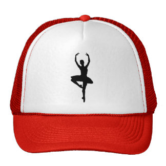 BALLERINA PIROUETTE (ballet dance silhouette) ~~ Trucker Hat
