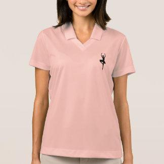 BALLERINA PIROUETTE (ballet dance silhouette) ~~ Polo T-shirt