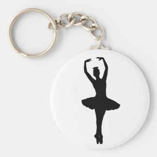 BALLERINA PIROUETTE EN POINTE (Ballet Dancer) ~ Basic Round Button Keychain