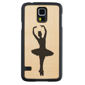 BALLERINA PIROUETTE EN POINTE (Ballet Dancer) ~ Carved® Maple Galaxy S5 Slim Case