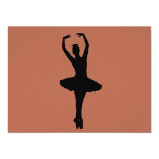 BALLERINA PIROUETTE EN POINTE (Ballet Dancer Silho Card