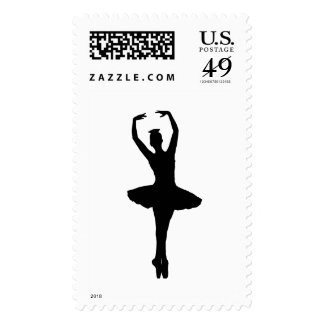 BALLERINA PIROUETTE EN POINTE (Ballet Dancer Silho Postage