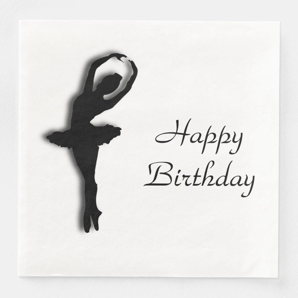 Ballerina Pirouette in Garden Green Paper Dinner Napkin