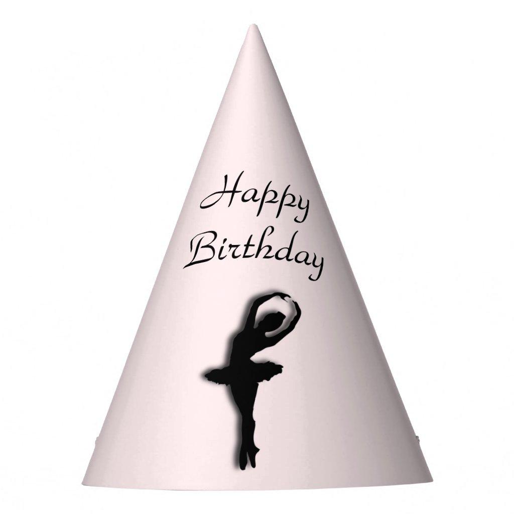Ballerina Pirouette in Garden Green Party Hat