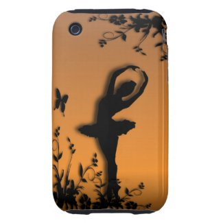 Ballerina Pirouette in Garden iPhone Case Tough iPhone 3 Case
