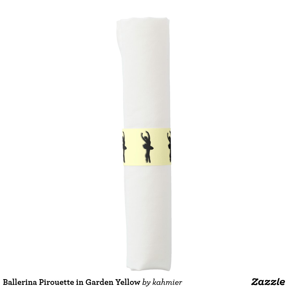 Ballerina Pirouette in Garden Yellow Napkin Band