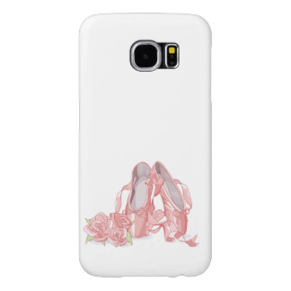 Ballerina pointe shoes and roses samsung galaxy s6 case