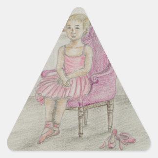 ballerina portrait triangle sticker