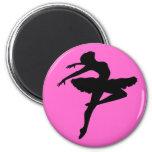Ballerina Pose 2 Inch Round Magnet