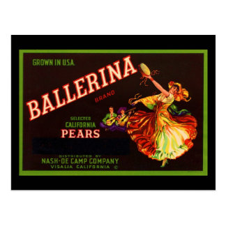 Ballerina Post Cards