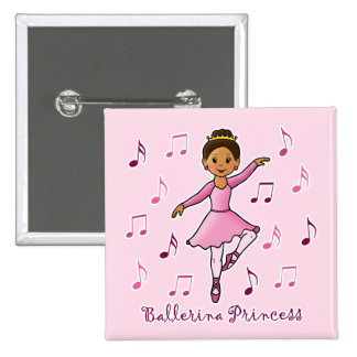 Ballerina Princess Button