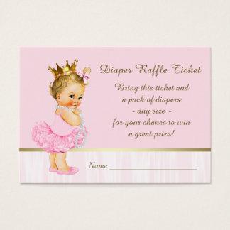 Ballerina Princess Diaper Raffle Ticket