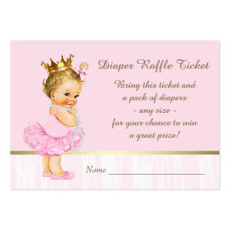 Ballerina Princess Diaper Raffle Ticket Large Business Card