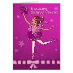 Ballerina Princess Girls Birthday Card