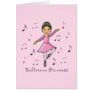 Ballerina Princess Greeting Card