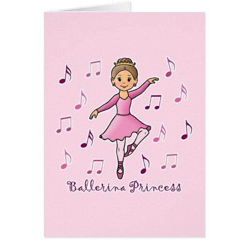 Ballerina Princess Greeting Card