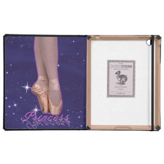 Ballerina princess in her point shoes iPad cover