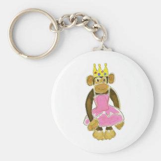 Ballerina Princess Monkey Key Chain