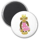 Ballerina Princess Monkey Magnets