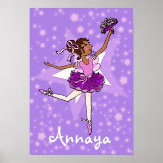 "Ballerina purple dark girl star ""name"" poster"