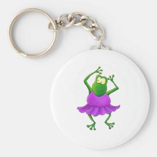 Ballerina Purple Tutu Dancing Frog Key Chains